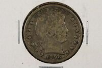 1898 P BARBER QUARTER DOLLAR 25C FINE
