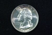 1932 WASHINGTON QUARTER GEM BU