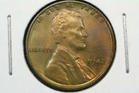 1942 D LINCOLN CENT CHOICE RED BROWN BU