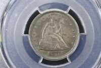 1875 S TWENTY CENT PIECE PCGS AU 58 BEAUTIFUL ORIGINAL SLIDER UNC.