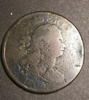 1806 DRAPED BUST HALF CENT  COLLECTIBLE FILLER TYPE COIN SMALL 6 NO STEMS