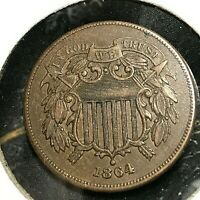 1864 TWO CENT TYPE COIN HIGH GRADE BEAUTY
