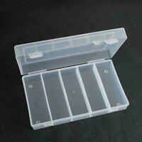 RECTANGULAR CLEAR PLASTIC COIN STORAGE BOX COLLECTION CASE PROTECTOR 100PCS 30MM