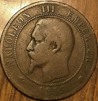 1855 BB FRANCE 10 CENTIMES COIN