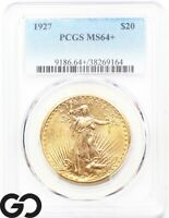 1927 MS64 GOLD DOUBLE EAGLE $20 GOLD ST GAUDENS PCGS MINT ST