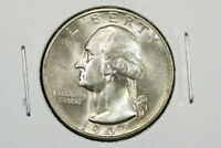 1947 S WASHINGTON QUARTER NEAR GEM BU