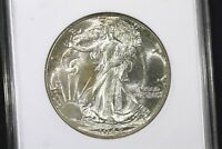 1942 GEM BU ANACS MS 65 WALKING LIBERTY HALF PQ