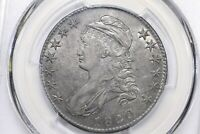 1820/19 SQUARE BASE 2 CAPPED BUST HALF PCGS AU 50