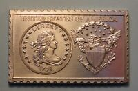 1798 UNITED STATES LIBERTY DRAPED BUST DOLLAR NUMISTAMP MEDAL COIN 1976 REED