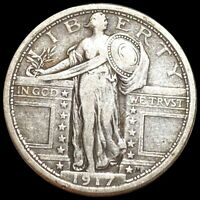 1917 TY1 STANDING QUARTER NEARLY UNCIRCULATED PHILADELPHIA 2