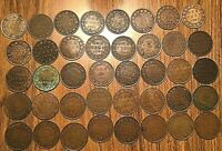 1858 TO 1920 COMPLETE COLLECTION OF CANADA LARGE CENTS  40 COINS