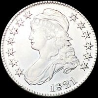 1821 CAPPED BUST HALF DOLLAR NEARLY UNCIRCULATED PHILADELPHI