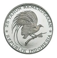 [NC] INDONESIA   200 RUPIAH 1970 PROOF ARGENTO SILVER 1000