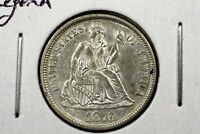 1876 LIBERTY SEATED DIME SLIDER BU