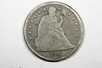 1843 LIBERTY SEATED DOLLAR CHOICE VG
