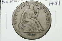 1866 S SEATED LIBERTY HALF DOLLAR NO MOTTO  DATE  FINE