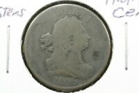 1806 LG 6 W/STEMS DRAPED BUST HALF CENT GOOD