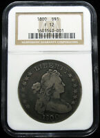 1800 DRAPED BUST DOLLAR NGC F12