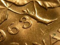 1963 CENT ZOELL R87A DOUBLE 3 BRILLIANT UNCIRCULATED