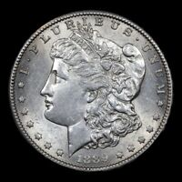 1889-S  MUCH BETTER DATE  MORGAN DOLLAR $1 MS  UNC  PROOFLIKE REVERSE