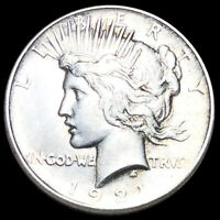 1921 SILVER PEACE DOLLAR HIGHLY UNCIRCULATED PHILADELPHIA MS
