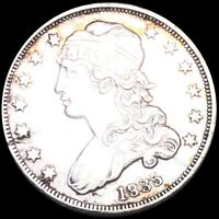 1835 CAPPED BUST QUARTER CLOSELY UNCIRCULATED PHILADELPHIA 2