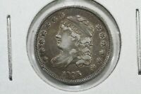 1835 CAPPED BUST HALF DIME, CHOICE VF
