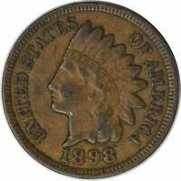 1898 INDIAN CENT, VF, UNCERTIFIED