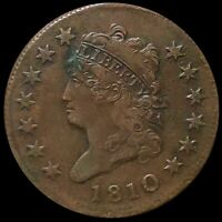 1810 CLASSIC HEAD LARGE CENT LIGHTLY CIRCULATED PHILADELPHIA 1C COPPER COIN NR