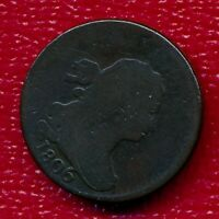 1806 DRAPED BUST COPPER HALF CENT LARGE 6 LY CIRCULATED FREE SHIP