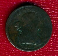 1803 DRAPED BUST COPPER HALF CENT CHOICE GOOD SHIPS FREE