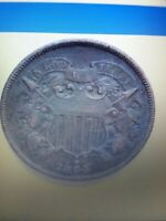 1864 TWO CENT PIECE.
