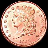 1835 CLASSIC HEAD HALF CENT HIGHLY UNCIRCULATED PHILLY SHINY
