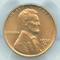 1930-S LINCOLN CENT, PCGS MINT STATE 64RD