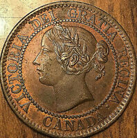 1859 CANADA LARGE CENT PENNY LARGE 1 CENT COIN   FANTASTIC EXAMPLE