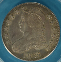 1825 CAPPED BUST HALF DOLLAR ANACS EF45- ATTRACTIVE TONE,  EYE APPEAL