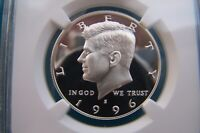 1996-S SILVER KENNEDY HALF DOLLAR GRADED PF 69 ULTRA CAMEO BY NGC