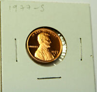 1977-S PROOF LINCOLN CENT FROM US PROOF SET -GEM PROOF PENNY