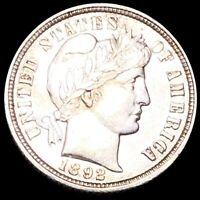1892 O BARBER DIME APPEARS UNCIRCULATED NEW ORLEANS MS BU 10