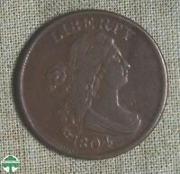 1804 DRAPED BUST HALF CENT   SCRATCHES   EXTRA FINE DETAILS