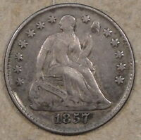 1857 LIBERTY SEATED HALF DIME EXTRA FINE
