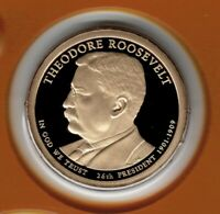 2013 THEODORE ROOSEVELT PRESIDENTIAL PROOF DOLLAR FROM MINT PROOF SET CP2250
