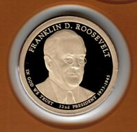 2014 FRANKLIN ROOSEVELT PRESIDENTIAL PROOF DOLLAR FROM MINT PROOF SET CP2268