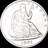 1861 O SEATED HALF DOLLAR APPEARS UNCIRCULATED NEW ORLEANS M