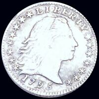 1795 FLOWING HAIR HALF DIME CLOSELY UNCIRCULATED PHILADELPHI