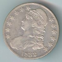 1832 CAPPED BUST HALF DOLLAR   SILVER   LARGE DATE VARIETY