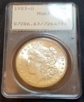 1903-O MORGAN SILVER DOLLAR - PCGS MINT STATE 63 - OGH RATTLER - VAM4 - REVERSE IS MINT STATE 66