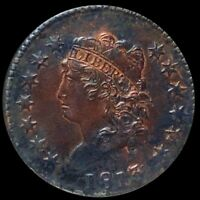 1813 CLASSIC HEAD LARGE CENT NEARLY UNCIRCULATED PHILADELPHIA 1C COPPER COIN NR