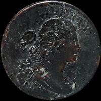1808 DRAPED BUST LARGE CENT LIGHTLY CIRCULATED PHILADELPHIA 1C COPPER COIN NR