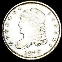 1829 CAPPED BUST HALF DIME NEARLY UNCIRCULATED PHILADELPHIA